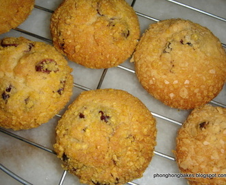 Cornflakes Butter Cookies with Dried Cranberries