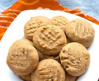 Eggless Organic Honey Peanut Butter Cookies Recipe