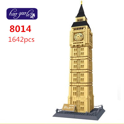 Free Shipping WanGe 8014 1642PCS large Bricks blocks plastic Building block sets educational block toys THE BIG BEN OF LONDON