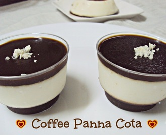 Coffee n White Chocolate Panna Cotta  ( For Potluck Cyberstyle)