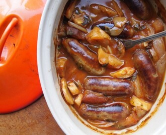 Weekly Meal Plan and a Hearty Family Supper Recipe: Sausage and Apple Casserole in Cider
