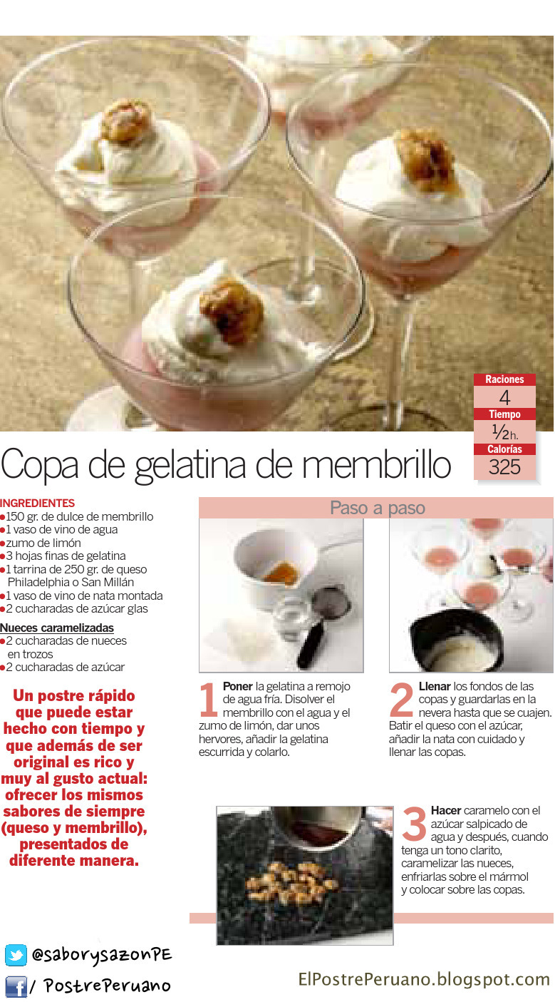 COPA DE GELATINA DE MEMBRILLO - RECETA SENCILLA - RECIPES