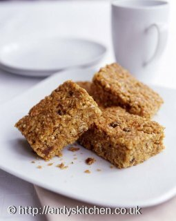 Coconut and cranberry flapjacks
