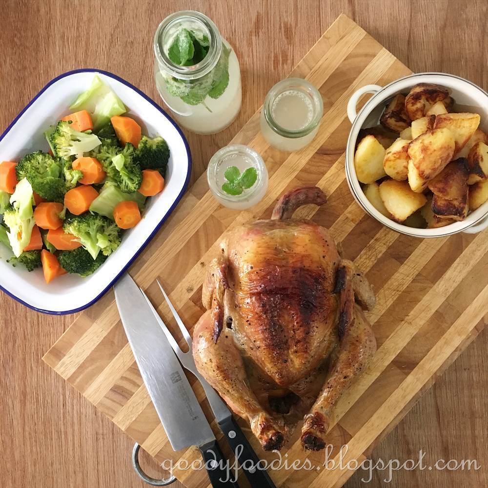 Recipe: Roast Chicken with Lemon + Roast Potatoes