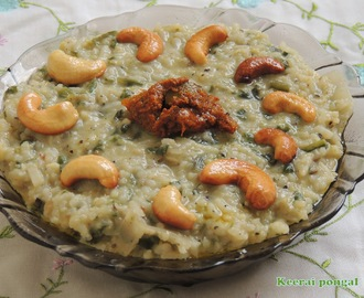 KEERAI PONGAL / SPINACH WITH RICE AND LENTILS