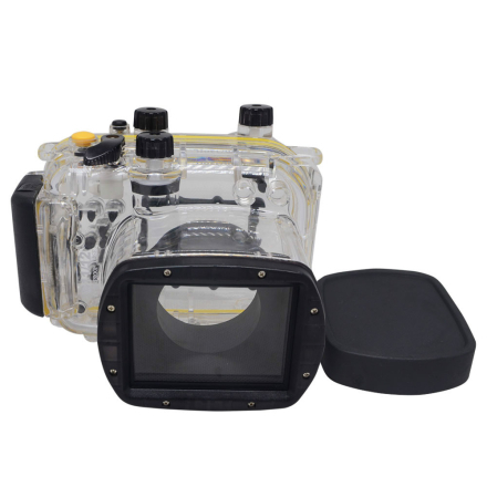 Mcoplus 40m/130ft Underwater Waterproof Diving Housing Camera Case Bag for Canon Powershot G11 G12