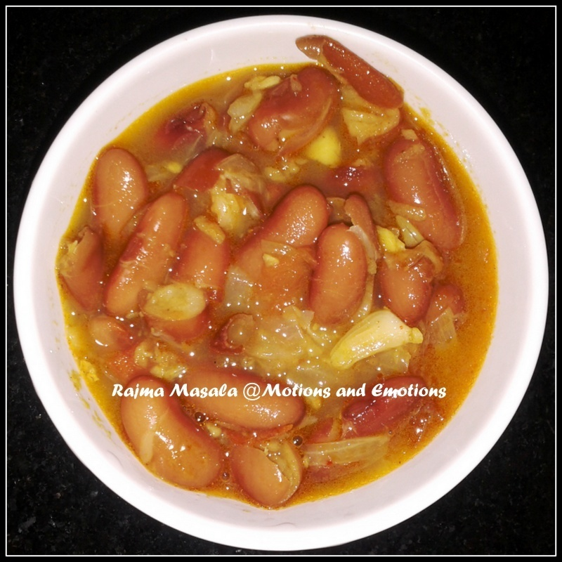 Rajma Masala/Rajma Curry/Red Kidney Bean Curry