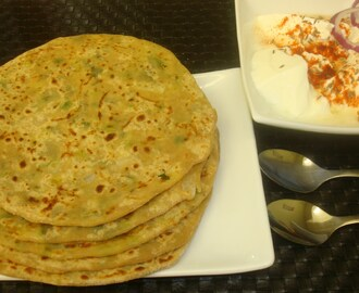 Cheese and Spring Onion Stuffed Paratha