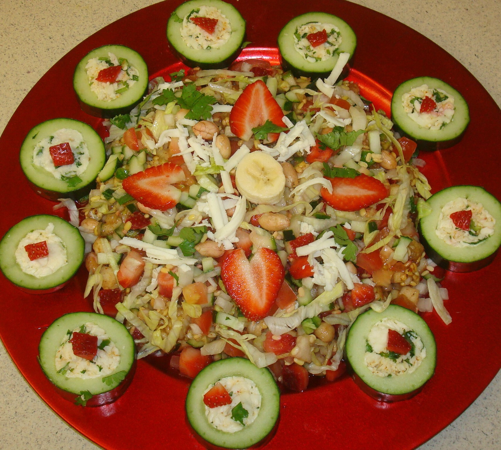 Cucumber Salad with peanuts