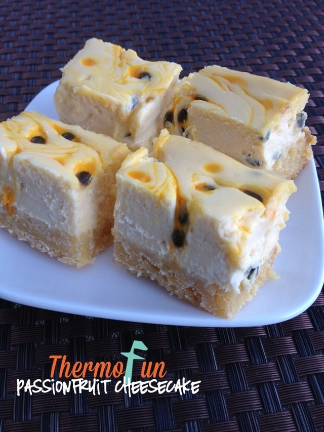 ThermoFun – Wicked Wednesday – Passionfruit Cheesecake Recipe