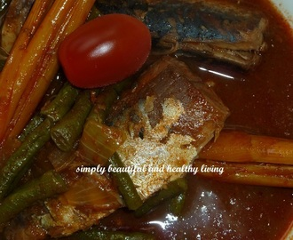 Easy Long Beans Sardine Curry (suitable for kids learning to take spicy food)