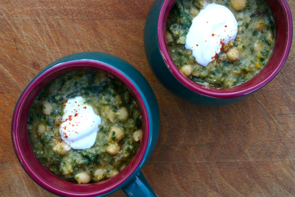 moorish chickpea and spinach soup - a random recipe