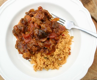 lamb tagine with prunes and Ainsley Harriott's Moroccan Medley Cous Cous