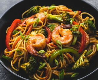 Shrimp 'n Broccoli Lo Mein