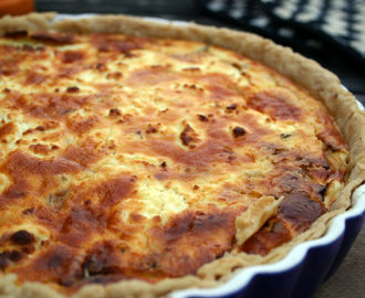 Dreams - A Caramelised Onion and Goats Cheese Quiche