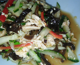 EZCR#121 - CHICKEN ZUCCHINI BLACK FUNGUS SALAD