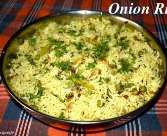 Onion Fried Rice, Spicy Onion Rice, How to Make Onion Fried Rice Recipe
