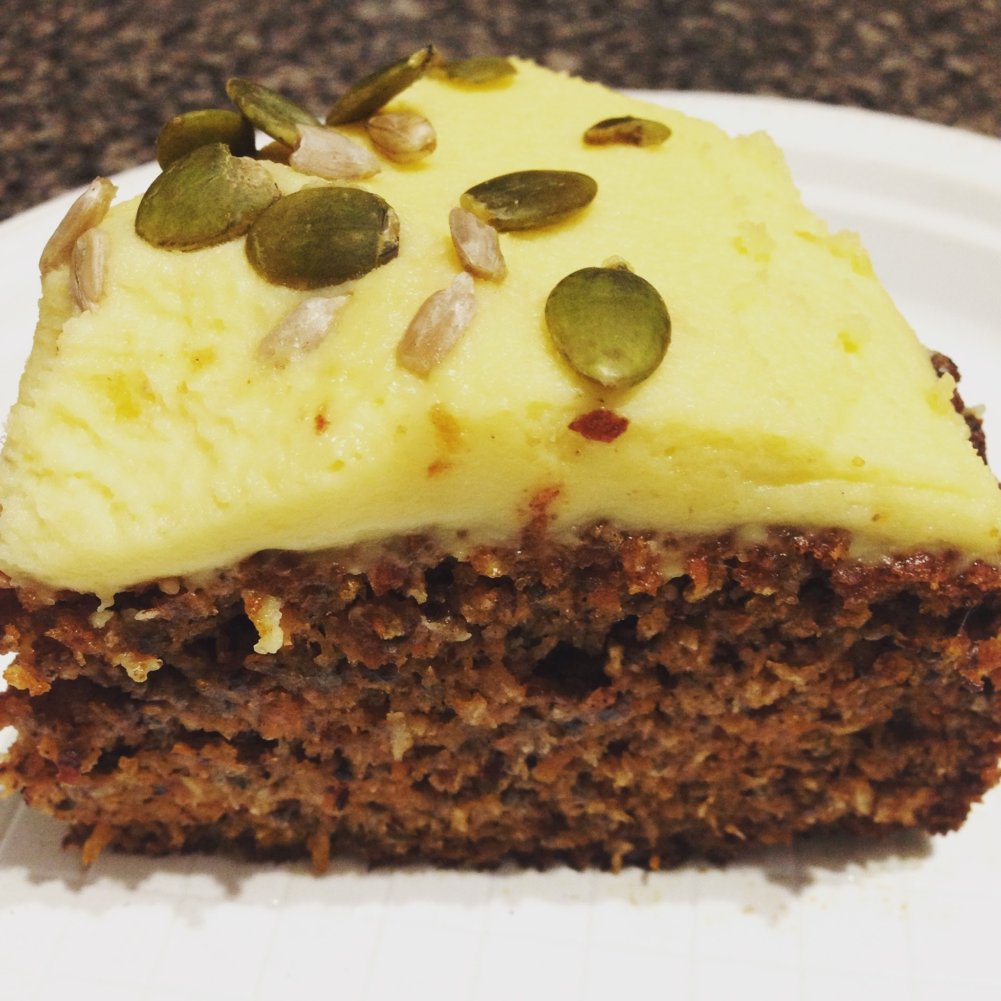 That carrot and chia seed cake with honey mascarpone cream....{recipe}