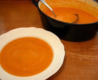roast tomato and sweet potato soup