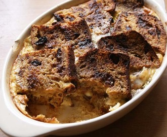 Banana Loaf bread and butter pudding