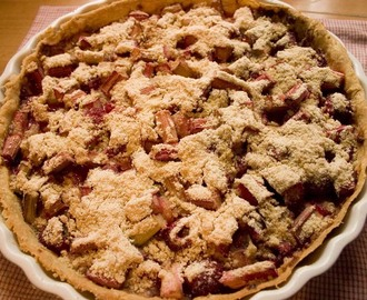 Rhubarb and Raspberry Flan with Streusel topping - Guest Chef in Belleau Kitchen