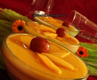 No bake Eggless Gelatin free Mango Cheese Cake