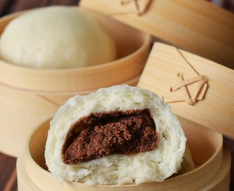 Best Chinese Steamed Bun Recipe to make Wonderfully White and Soft Red Bean Steamed Buns / Dou Sha Bao 豆沙包
