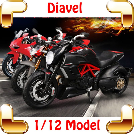 New Arrival Gift F4RR Diavel 1/12 Model Motorcycle Car Collection Scale Alloy Parts Decoration Toys Static Motorbike Present