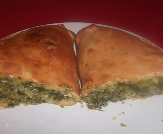 Spinach Calzone Pizza