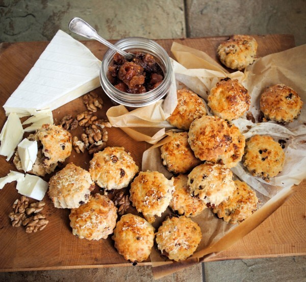Day Five on the Advent Calendar and Mini Cheese, Cranberry and Walnut Scones Recipe