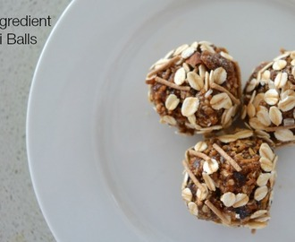 Three Ingredient Muesli Bliss Balls