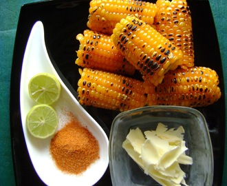 Madras Beach Food - Hot and Sour Roasted Corn on the cob