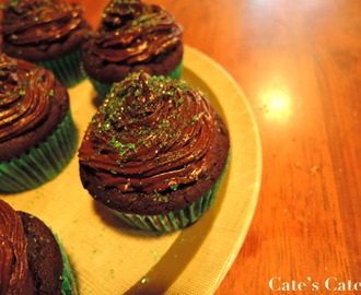 Recipe: Choc-Mint Birthday Cupcakes for Andrew