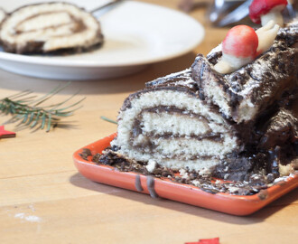 Easy Yule Log Recipe – Christmas Bûche de Noël Cake [French]