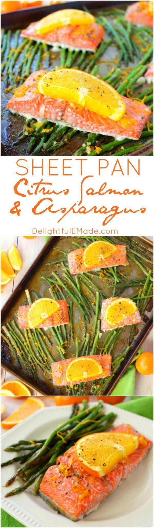 Citrus Salmon and Asparagus Recipe {Linky Party}