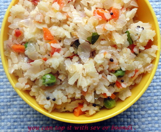 Vegetable Poha in rice cooker