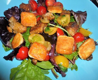 Panzanella Salad with Saganaki Recipe