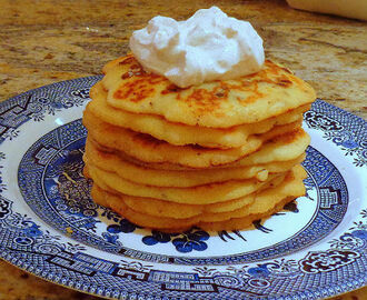 Shrove Tuesday Pancakes with Chocolate Chips and Cinnamon Cream