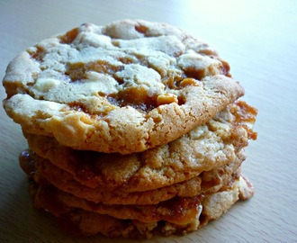 Peanut butter and butterscotch chip cookies