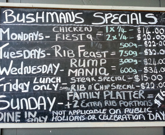Bushman's Grill (North Shore City, New Zealand)