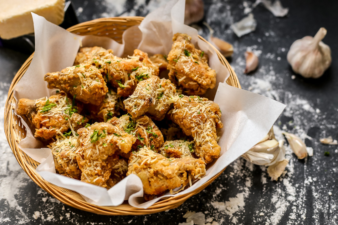 Parmesan Garlic Fried Chicken