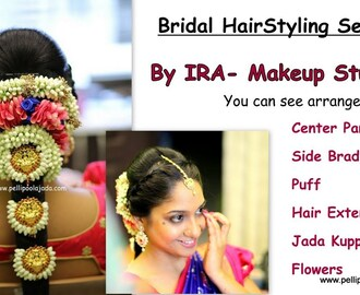 South Indian Bridal Hairstyling Series : Poolajada with Flowers