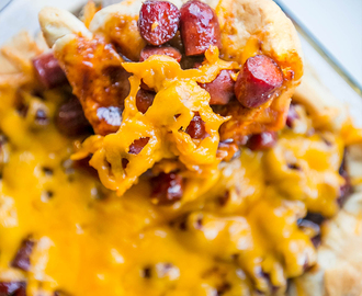 Easy Cheesy BBQ Little Smokies Casserole