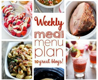 Easy Weekly Meal Plan Week #35