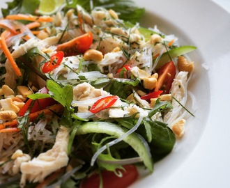 Asian Salad with Poached Chicken
