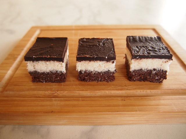 Chocolate & Coconut Triple Layer Slice from the Hungry Club – Gluten, Grain, Dairy & Refined Sugar Free