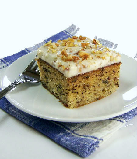 Banana  Cake with Walnut and Cream Cheese Icing