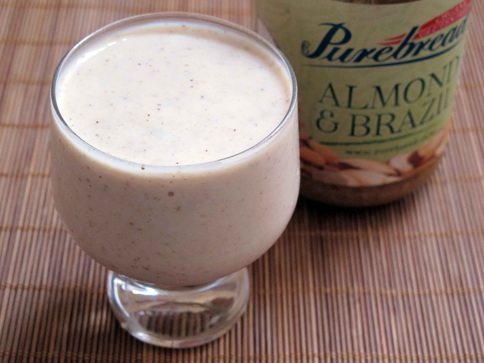 Feijoa, Banana, Almond and Brazil butter Smoothie