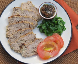 Gluten Free Spicy Pork and Apple Meatloaf with a Feijoa Chutney