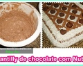 Chantilly de chocolate com Nutella